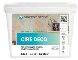 Vincent Decor Cire Deco / Винсент Декор Кире Деко лессирующая полупрозрачная краска содержащая воск