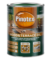 Pinotex Wood&Terrace Oil / Пинотекс Вуд Теракл Ойл деревозащитное масло для садовой мебели и терасс